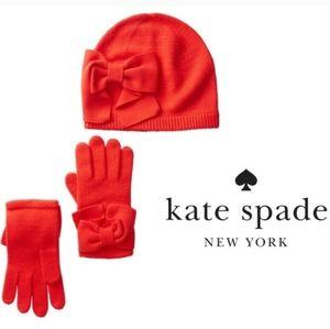 Kate Spade Beanie/Glove Set